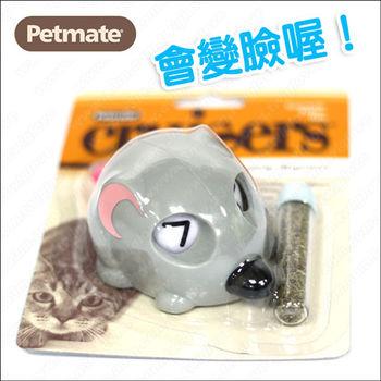 美國Petmate 填充式貓草玩具《老鼠》滾動會變臉