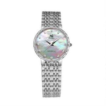 【FLUNGO佛朗明哥】佛朗明哥珍珠超薄真鑽腕錶