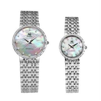 【FLUNGO佛朗明哥】佛朗明哥珍珠超薄真鑽 對錶