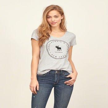 麋鹿先生 - Abercrombie Fitch AF 短袖T恤 ( 女 )