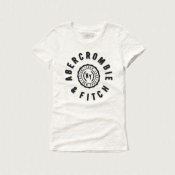 麋鹿先生 -Abercrombie Fitch AF字母T恤(女)