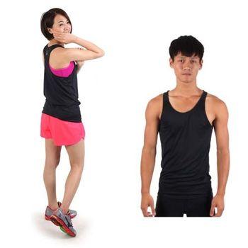 【HODARLA】M-2XL男女挖背背心 輕量 抗UV 0秒吸濕排汗 無袖 台灣製 黑