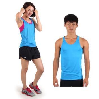【HODARLA】M-2XL男女挖背背心 輕量 抗UV 0秒吸濕排汗 無袖 台灣製 寶藍