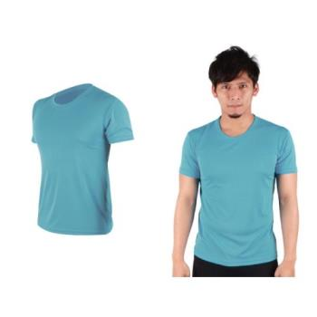 【HODARLA】S-3XL男女FLARE 100 吸濕排汗衫 短袖T恤 台灣製  透明水藍