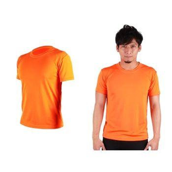 【HODARLA】S-3XL男女 FLARE 100 吸濕排汗衫 短袖T恤 台灣製  橘