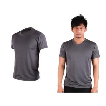 【HODARLA】S-3XL男女FLARE 100 吸濕排汗衫 短袖T恤 台灣製  鐵灰
