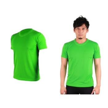 【HODARLA】S-3XL男女FLARE 100 吸濕排汗衫 短袖T恤 台灣製  翠綠