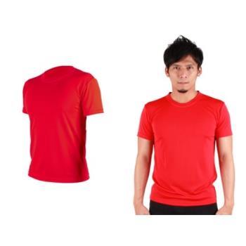 【HODARLA】S-3XL男女FLARE 100 吸濕排汗衫 短袖T恤 台灣製  紅