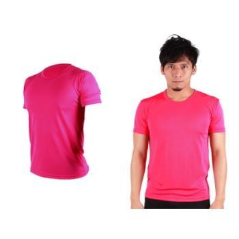 【HODARLA】S-3XL男女FLARE 100 吸濕排汗衫 短袖T恤 台灣製  桃紅
