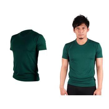 【HODARLA】S-3XL男女 FLARE 100 吸濕排汗衫 短袖T恤 台灣製  森林綠