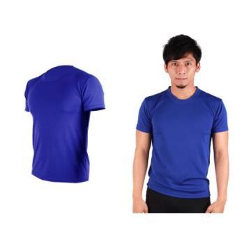 【HODARLA】S-3XL男女 FLARE 100 吸濕排汗衫 短袖T恤 台灣製  藍