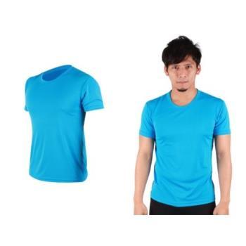 【HODARLA】S-3XL男女 FLARE 100 吸濕排汗衫 短袖T恤 台灣製  亮藍