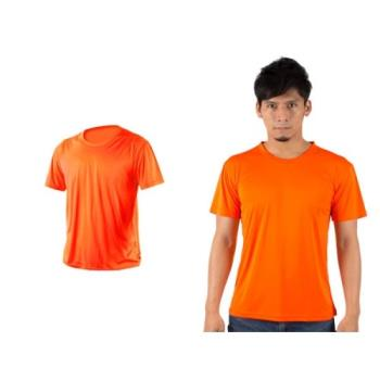 【HODARLA】XS-3XL激膚無感衣 男女涼感短T恤-0秒吸排抗UV輕量吸濕排汗無著感 陽光橘