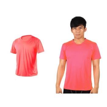 【HODARLA】XS-3XL激膚無感衣 男女涼感短T恤-0秒吸排抗UV輕量吸濕排汗無著感 螢光粉