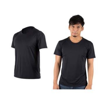 【HODARLA】XS-3XL 激膚無感衣 男女涼感短T恤-0秒吸排抗UV輕量吸濕排汗無著感 黑