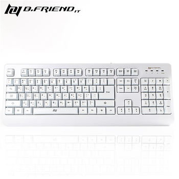 【B.Friend】GK1 防水遊戲專用有線鍵盤(白色 / 黑色)