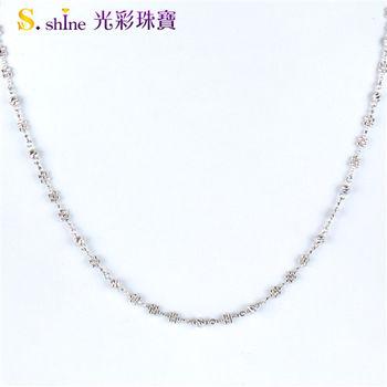 【光彩珠寶】日本鉑金項鍊  花仙子