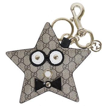 GUCCI  G-logoPVC皮革星星驚恐臉鑰匙圈