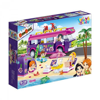 【BanBao 積木】沙灘女孩系列-野外露營車 6123