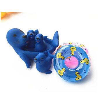幼兒洗澡戲水動物親子組玩具(共三款 )