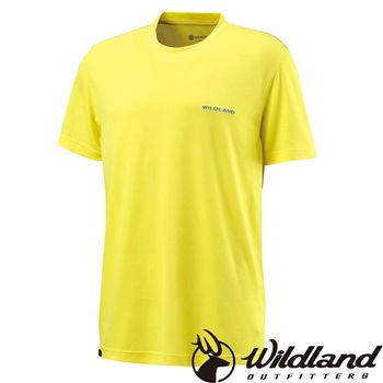 【荒野wildland】男疏水纖維圓領排汗衣 黃色 (W1626-35)