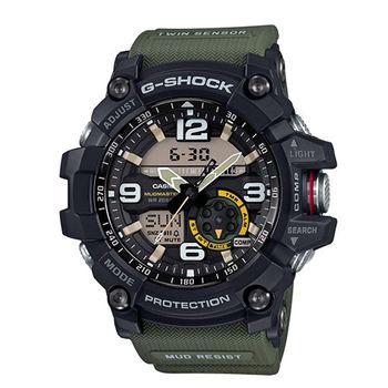 CASIO G-SHOCK 全方位傳感器休閒運動錶/GG-1000-1A3/帆布綠/55.3m