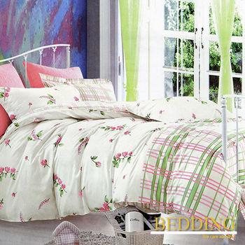 【BEDDING】茜茜花園  100%棉雙人特大6X7床包枕套三件式