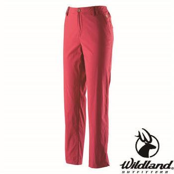 【荒野wildland】女彈性合身抗UV九分褲  紅色 (0A21331-08)