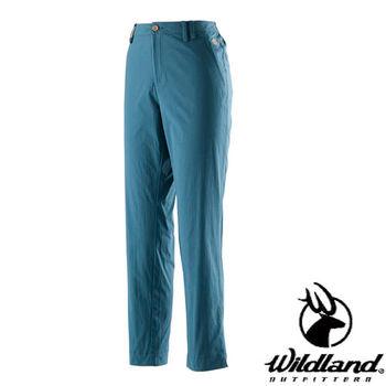 【荒野wildland】男彈性抗UV長褲 土耳其藍 (0A21336-46)
