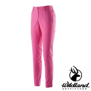 【荒野wildland】女彈性合身抗UV貼腿褲 桃紅色 (0A21337-09)