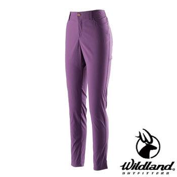 【荒野wildland】女彈性合身抗UV貼腿褲 紫色 (0A21337-53)