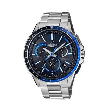 CASIO卡西歐 OCEANUSGPS混合電波接收系統男用腕錶-OCW-G1100-1A