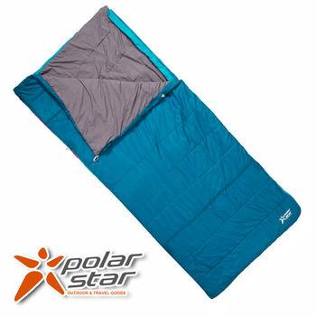 PolarStar 加寬加長舒適兩用睡袋 (可當6x7尺棉被。親子睡袋) 藍 露營 P15724