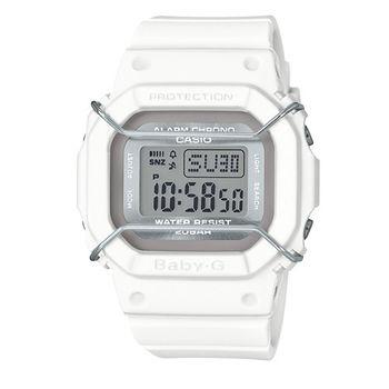 CASIO BABY-G 經典復古防撞運動概念休閒錶/白/40mm/BGD-501UM-7