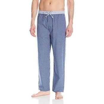 (預購)【Tommy Hilfiger】2016男時尚深藍色格紋繫繩長睡褲