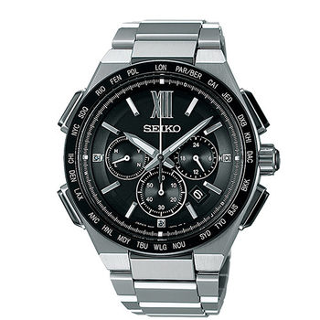 SEIKO 精工 BRIGHTZ 太陽能電波奢華時尚男用腕錶-42mm/8B92-0AF0D(SAGA209J)