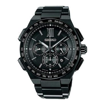 SEIKO 精工 BRIGHTZ 太陽能電波奢華時尚男用腕錶-42mm/8B92-0AF0SD(SAGA211J)