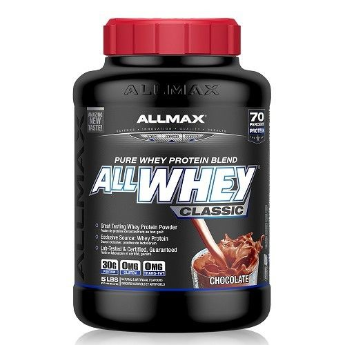 【加拿大ALLMAX】奧美仕乳清蛋白巧克力口味飲品1瓶 (2270公克)