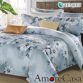 【AmoreCasa】夏慕 100%TENCEL天絲雙人四件式兩用被床包組