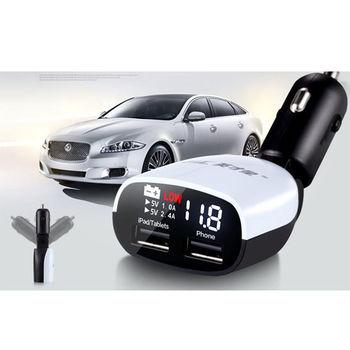 HSC 電瓶電壓監控 低電壓提醒+雙USB 3.4A 充電器