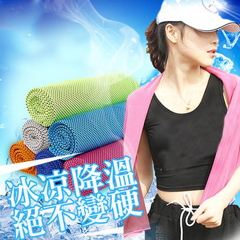 Coolcore超涼感絕不變硬雙色運動冰涼巾(1入)