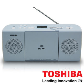 TOSHIBA 東芝可壁掛式MP3/CD音響 TY-CRM23TW
