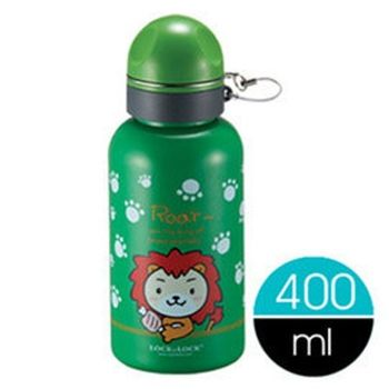 【樂扣樂扣】不鏽鋼童趣水壺400ML綠色-快樂獅