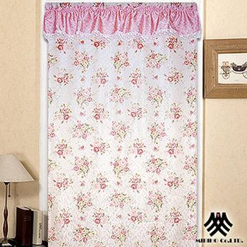 【M.B.H】玫瑰花園一片式開運風水簾-粉(88x176cm)