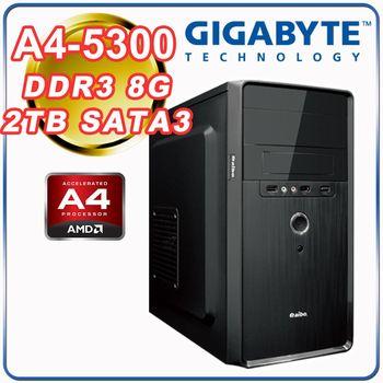 |技嘉A68H平台|雙核文書 A4-5300雙核 8G記憶體 2TB大容量 經濟文書型桌上型電腦