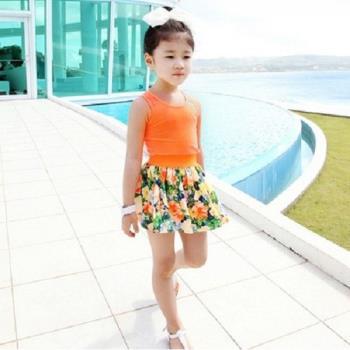[協貿國際]女童背心無袖連衣裙碎花裙兒童公主裙套裝