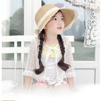 [協貿國際]女童鏤空蕾絲外套小披肩