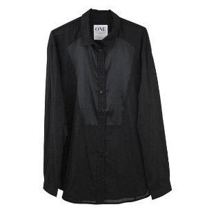 OneTeaspoon LE CULT BUTTON UP 長袖襯衫 OTS - 黑 - 女裝