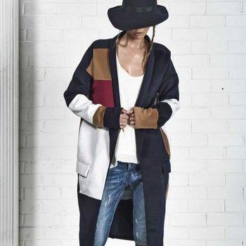 OneTeaspoon THE APOSTLE COAT 外套 OTS 好萊塢破褲單寧時尚 - 女 (軍藍)