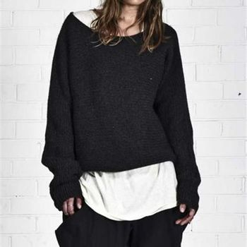 OneTeaspoon FIRST CLASS WOOL BLEND SWEATER 毛衣 OTS 好萊塢破褲單寧時尚 - 女 (黑)